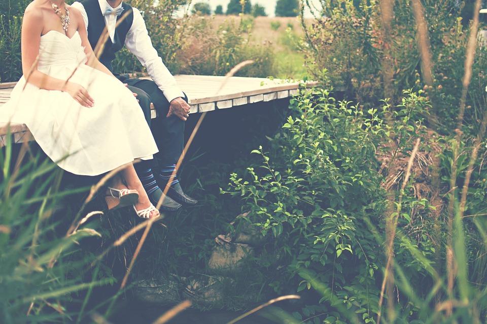 Bride And Groom, Couple, Bride, Groom, Wedding, Gown