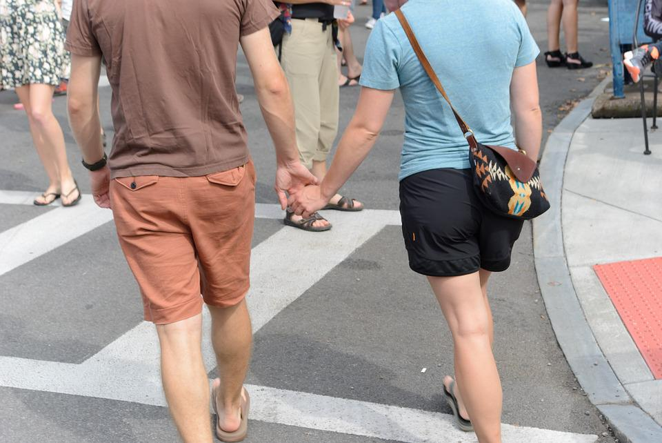 Holding Hands, Couple, Walking