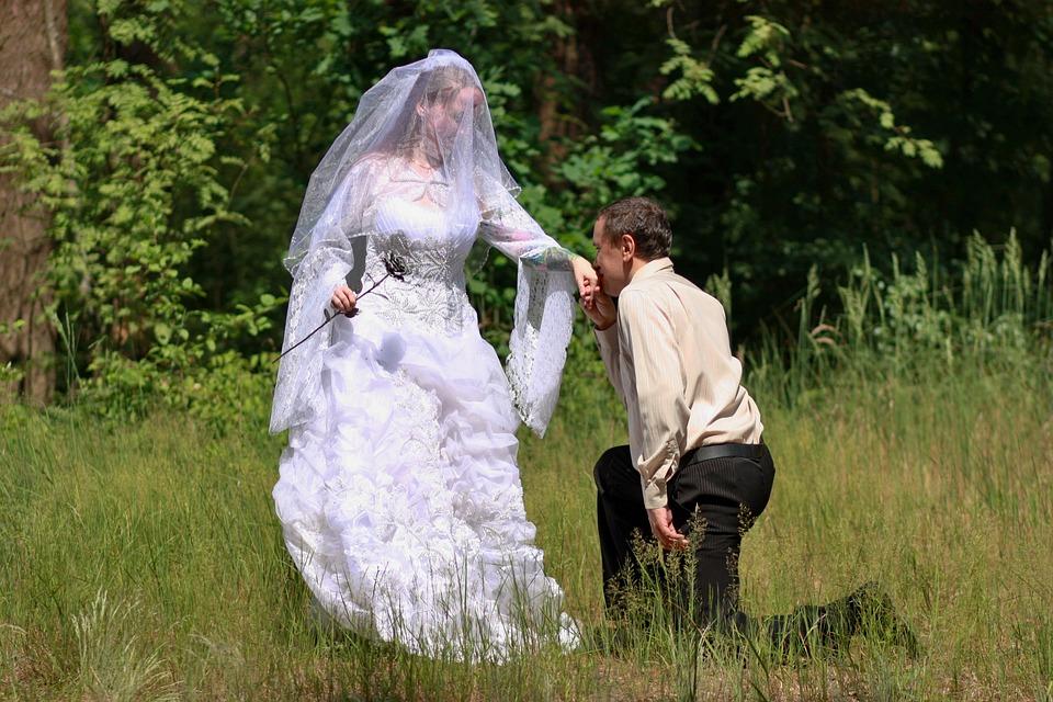 Couple, Wedding, Meadow, Love, Romantic, Romance