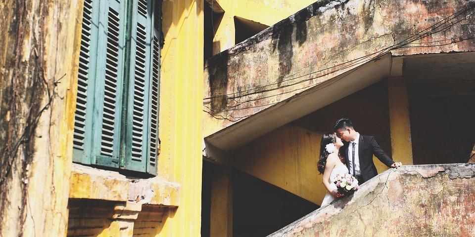 Hanoi, Couple, Wedding, Old, House, Indochina, Love