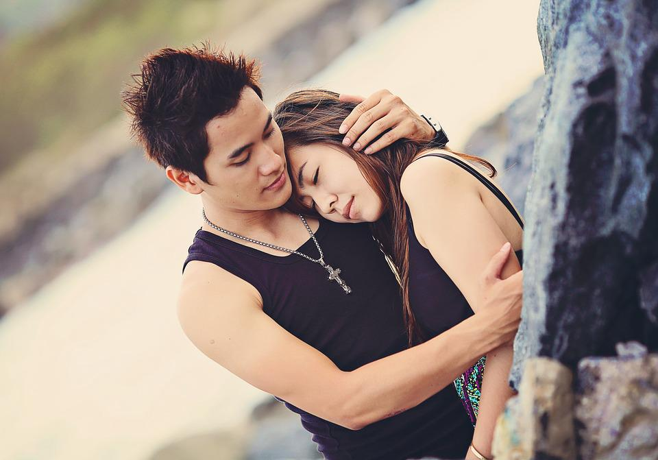 Love, Couple, Happy, Hug, Young, People, Man, Romantic