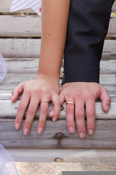 Marriage, Wedding Rings, Couple, Relationship, Man