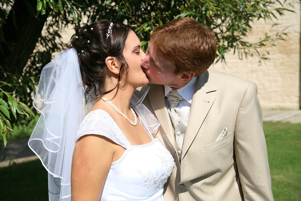 Wedding, Kiss, Love, Pair, Lovers, Nature, Couple