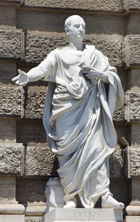 Italy, Rome, Court, Cicero, Statue, Court Of Cassation