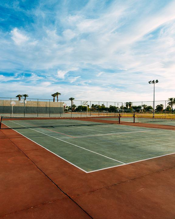 Tennis Court, Sky, Tennis, Sport, Landscape, Court, Net