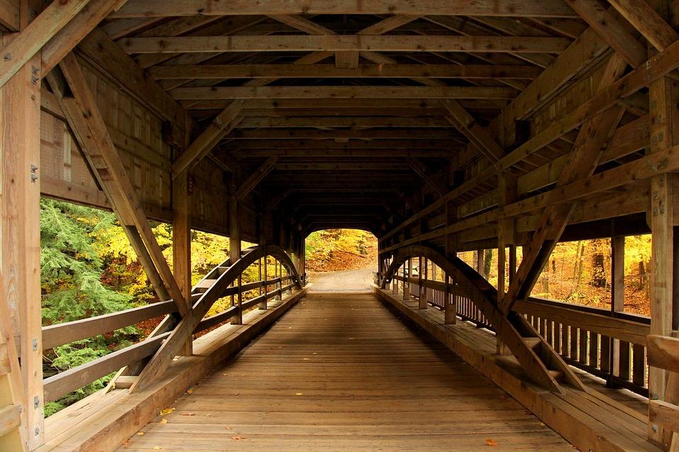 Bridge, Covered Bridge, Forest, Forest View, Autumn