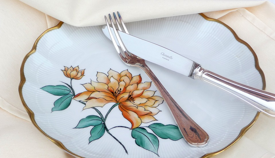 Covered, Fork, Knife, Tablecloth, Silverware