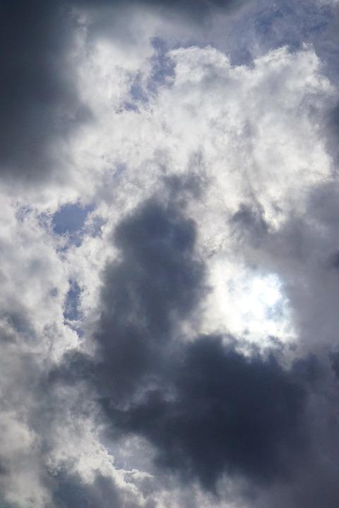 Clouds, Sky, Sun, Hidden, Covered, Overcast