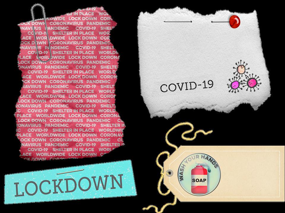 Covid 19, Torn Paper, Scrap Paper, Coronavirus