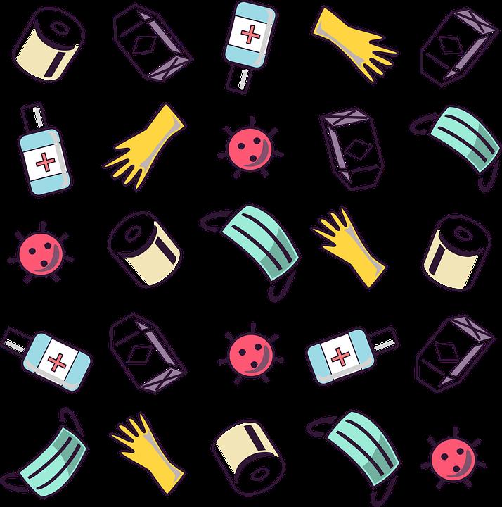 Covid, Covid-2019, Covid-19, Coronavirus, Pattern, Tile