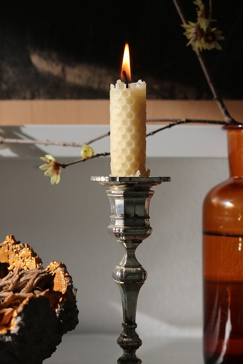 Beeswax, Candle, Decoration, Winter, Flame, Cozy, Light