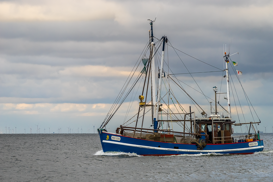 Fishing Boat, Cuxhaven, Sea, Crab Fisherman, Landscape
