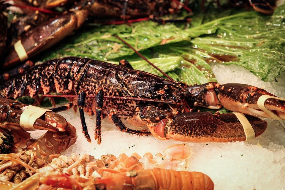 Lobster, Crab, Fish Market, Seafood