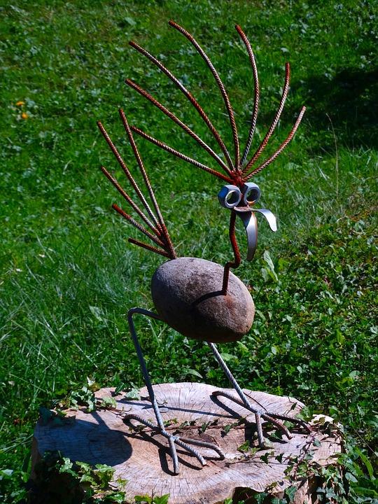 Bird, Art, Craft, Decoration, Cheerful, Funny, Stone