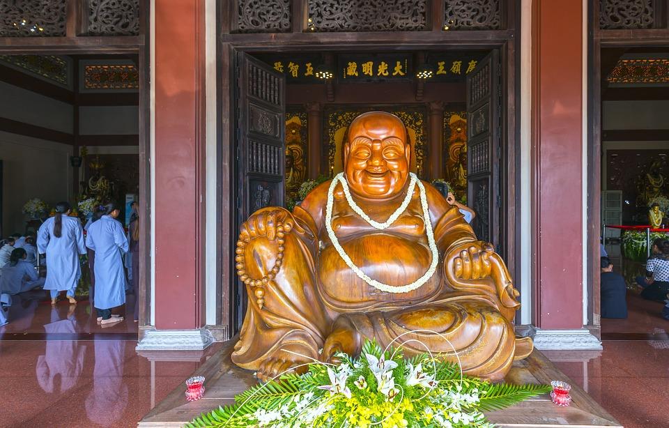 Art, Bowing, Buddha, Church, Craft, Crowd, Flooring
