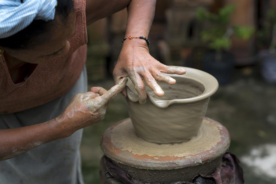 Adult, Asia, Pottery, Circle, Clay, Close-up, Craft