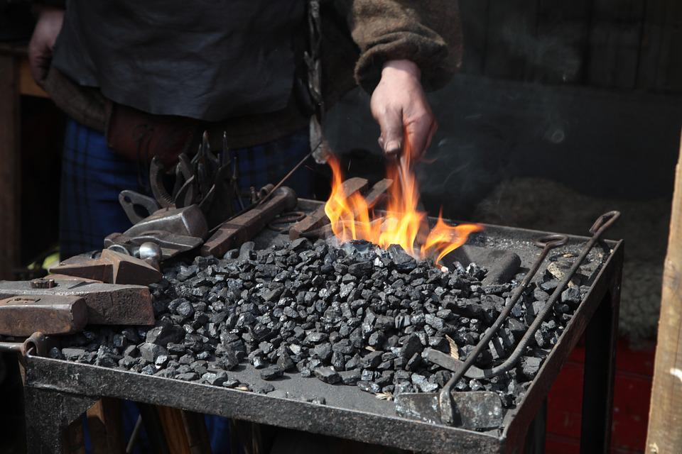 Fire, Craft, Middle Ages, Forge, Glow, Embers, Hot
