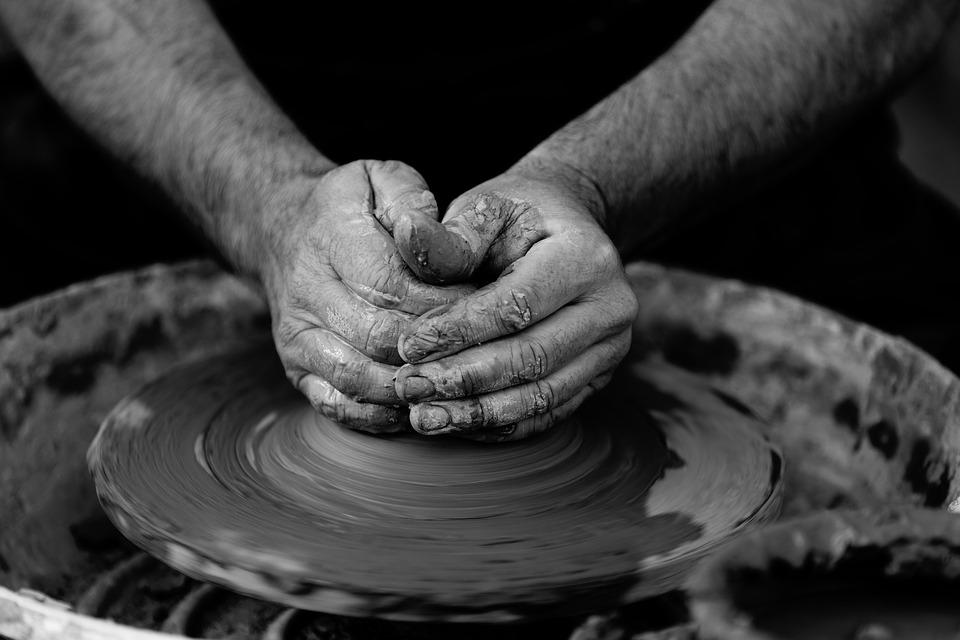 Art, Clay, Craft, Hands, Man, Person, Pottery