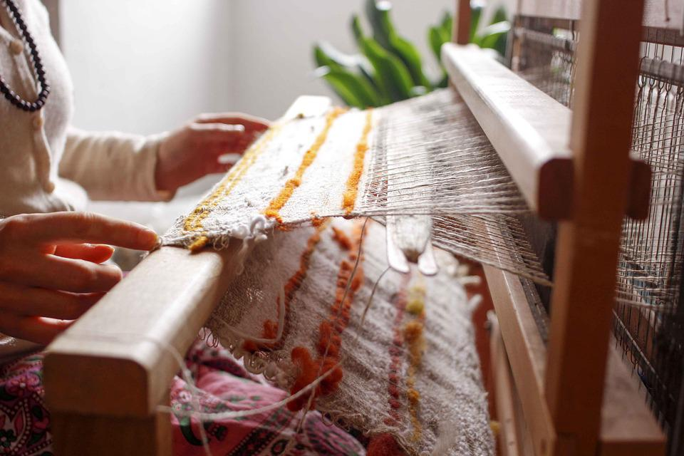 Loom, Weaving, Thread, Craft, Pattern, Fabric, Old