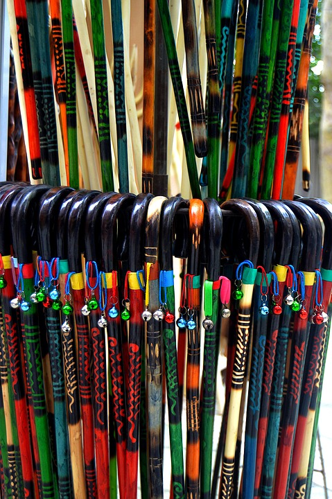 Crafts, Sticks Of Colors, Canes, Bells, Craft Products