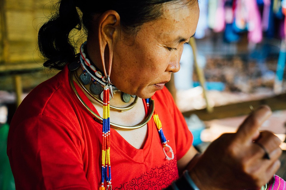 Thailand, Woman, Travel, Culture, Tribal, Craft