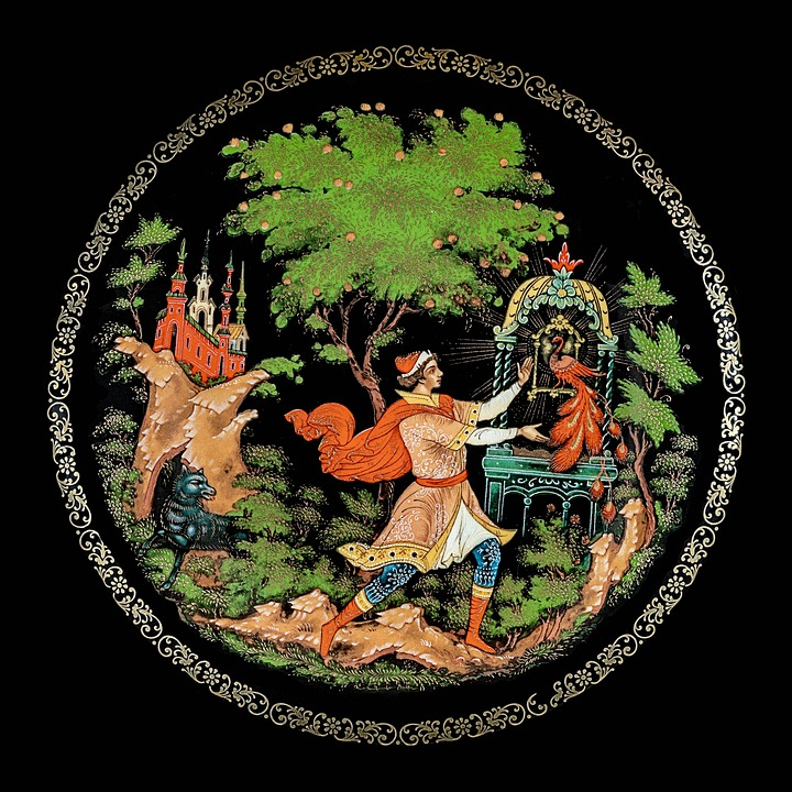 Decorative Plate, Painting, Crafts, Russia