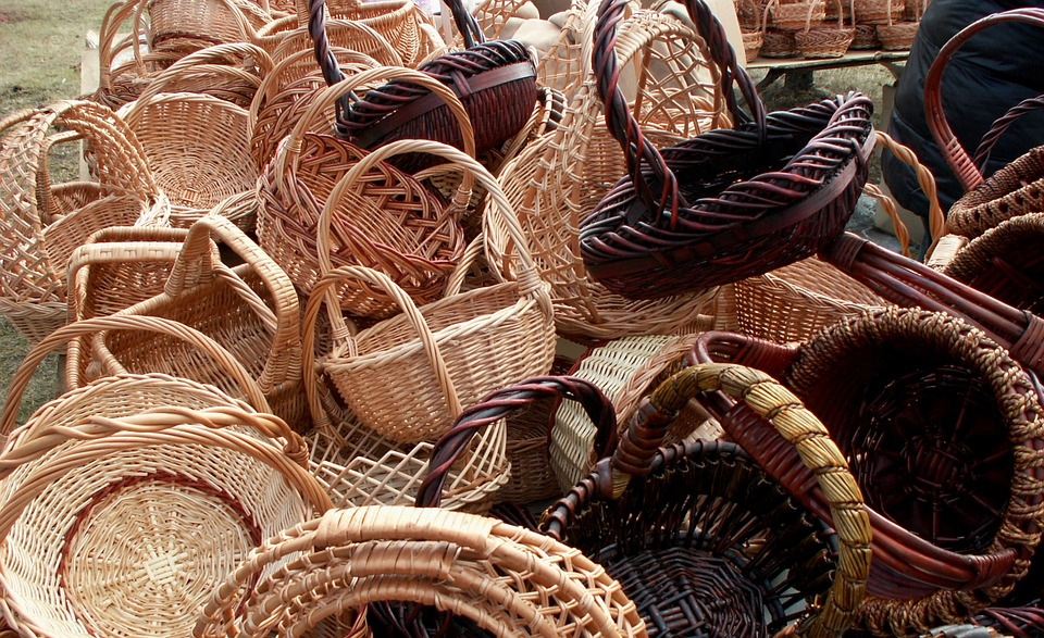 Wicker, Wooden, Crafts, Handcrafted