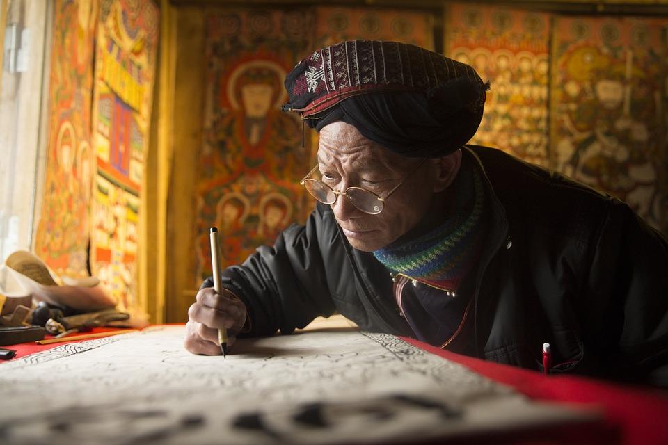 Craftsman, Painting, The Knife, Lao Cai, Sapa, Saman
