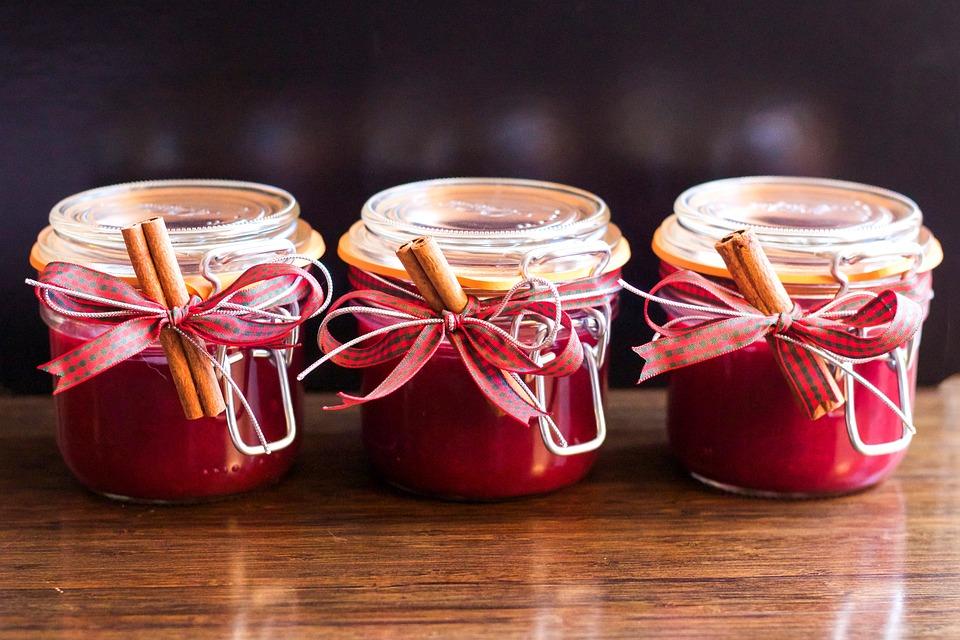 Jam, Jar, Christmas, Homemade, Cranberry, Gift, Natural