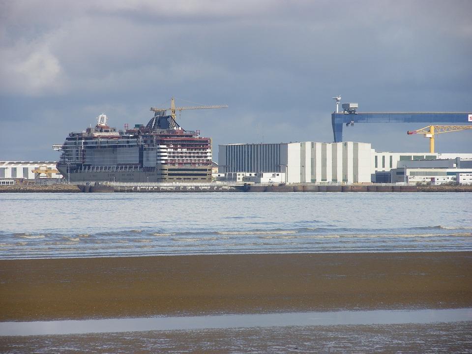 Shipyard, Ship, Cargo, Sea, Boat, Industrial, Crane