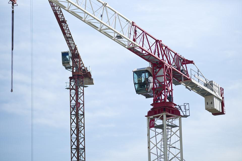 Crane, Construction, Sky, Structure, Building, Sites