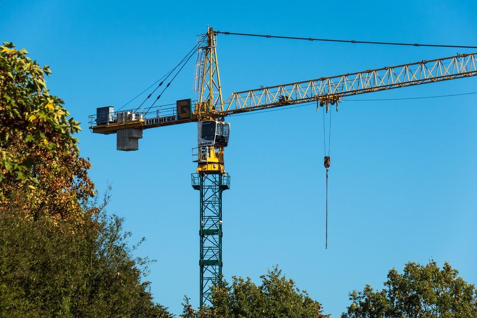 Crane, Baukran, Crane Cab, Build, Site