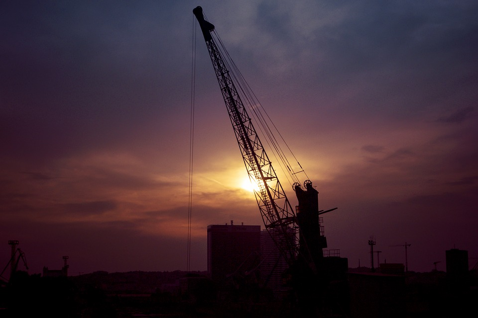 Crane, Industry, Processing, Silhouette, Factory