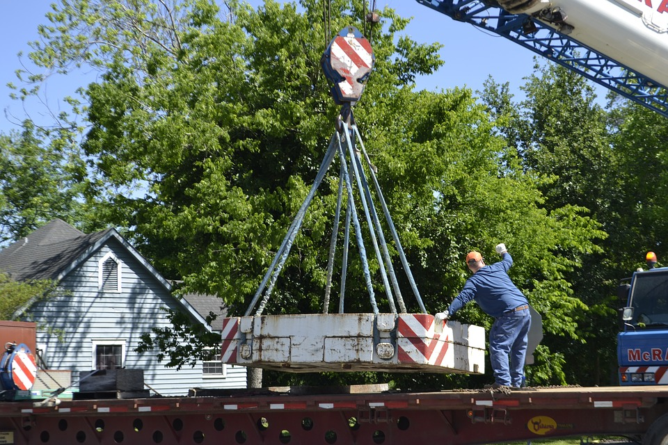 Crane, Construction, Lift, Worker, Hoisted, Outdoors