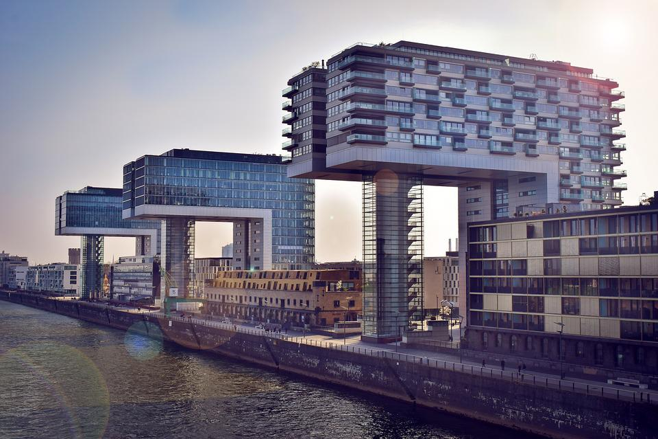 Architecture, Building, Crane Homes, City, Skyline