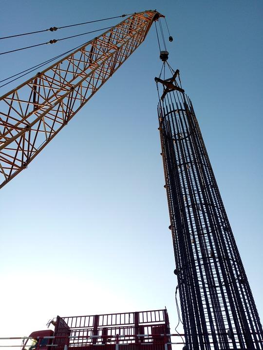 Industry, Crane, Sky, Machine