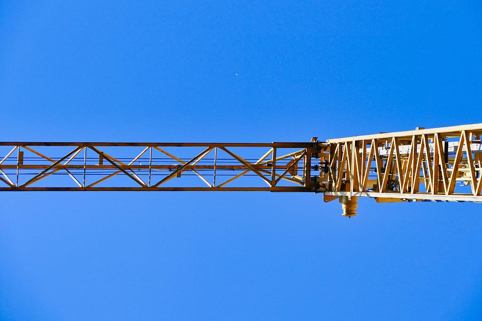 Baukran, Crane, Sky, Build, Crane Arm