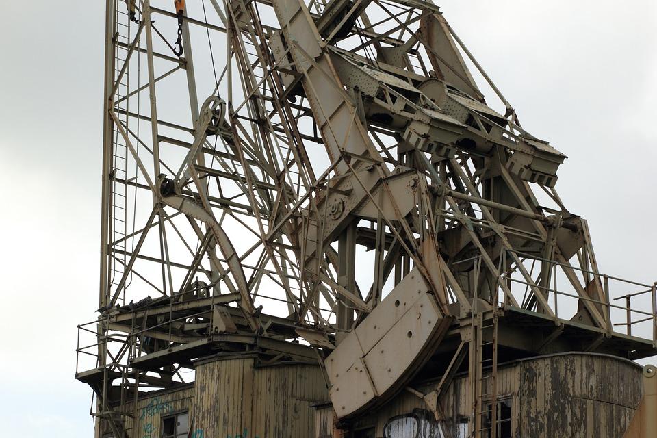 Belgium, Antwerp, Harbour, Cranes, Abandoned