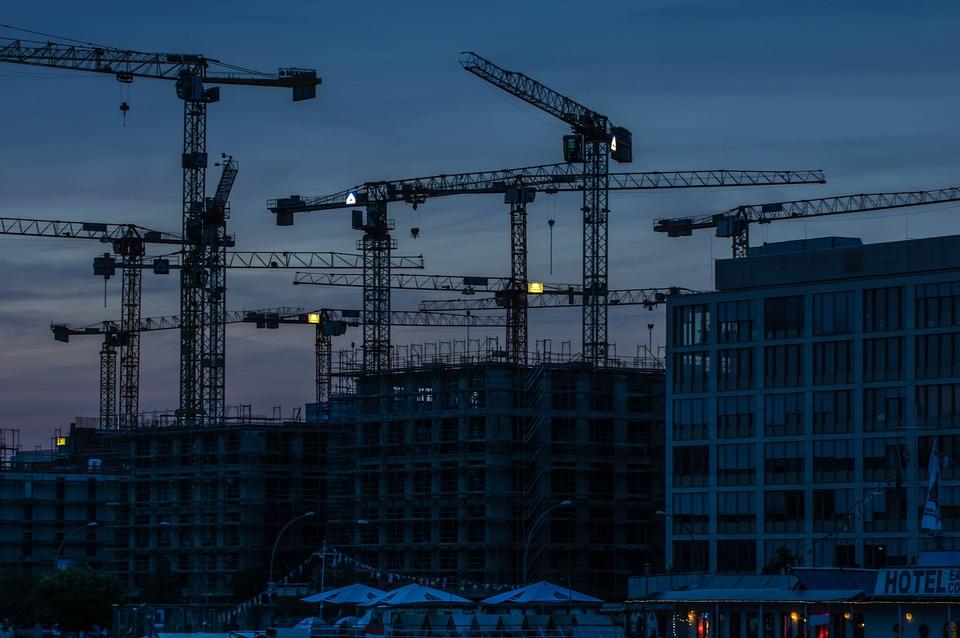 Crane, Industry, Cranes, Blue Hour, Sky, Steel