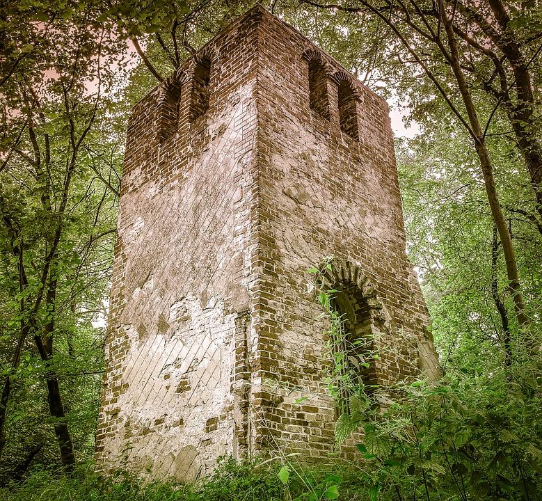 Crash, Forest, Castle, Tower, Brick, The Window