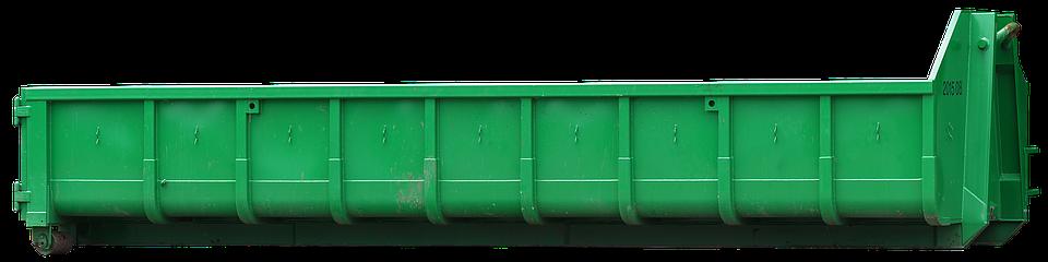 Container, Debris, Site, Isolated, Demolition, Crash