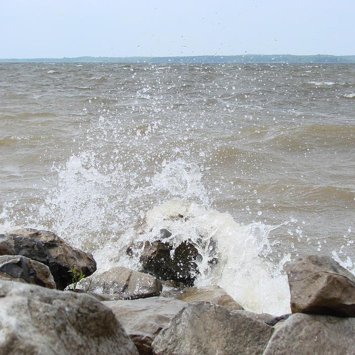 Waves, Crashing, Shore, Water, Nature, Landscape