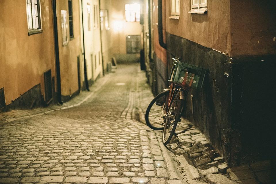 Cobblestone, Bike, Bicycle, Street, Crate, City