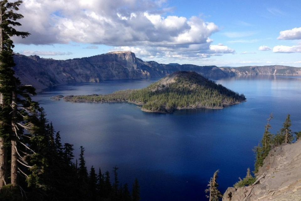 Crater Lake, Lake, Island, Nature, Landscape, Scenery