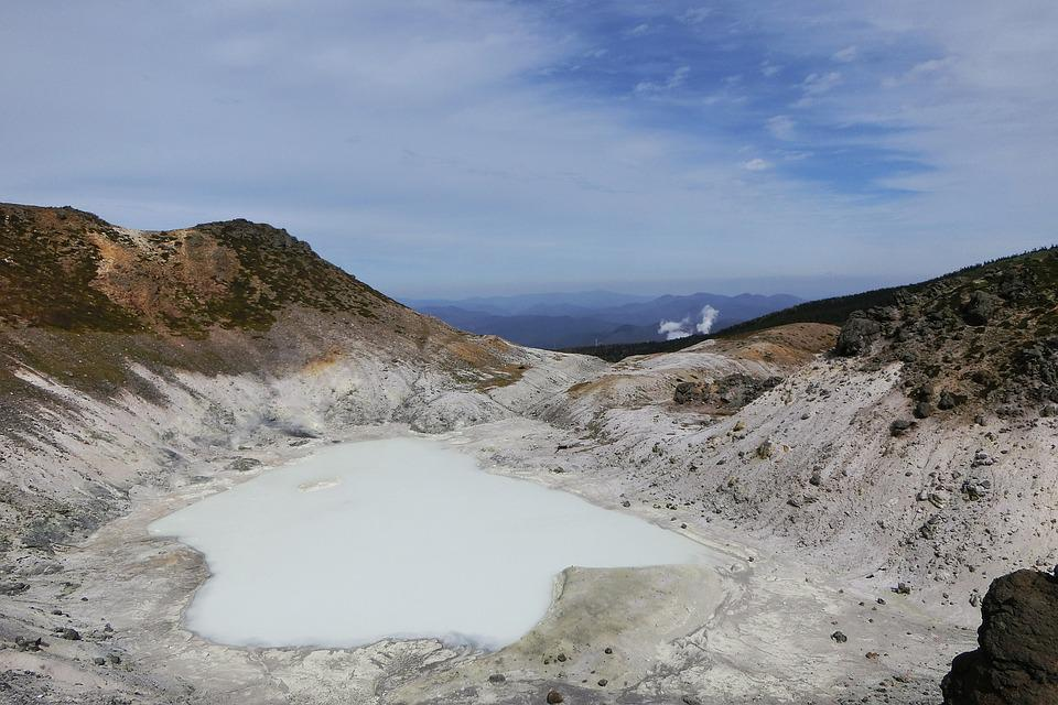 Japan, Natural, Landscape, Crater, Volcanic Lake