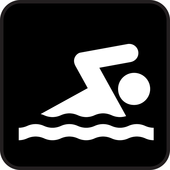 Swimming, Sports, Crawl, Recreation, Water, Black