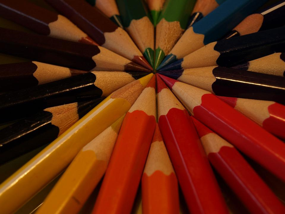 free photo crayons colors rainbow draw colorful wooden max pixel