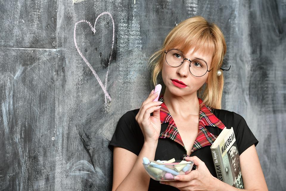 School Board, Mel, Crayons, Girl, Schoolgirl, School