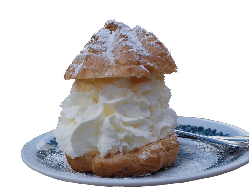 Transparent, Transparent Background, Cream Puff