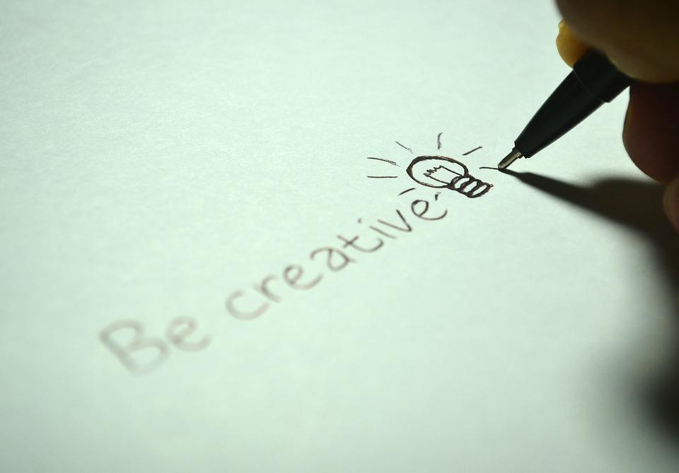 Creative, Be Creative, Write, Bulb, Idea, Paper, Pen